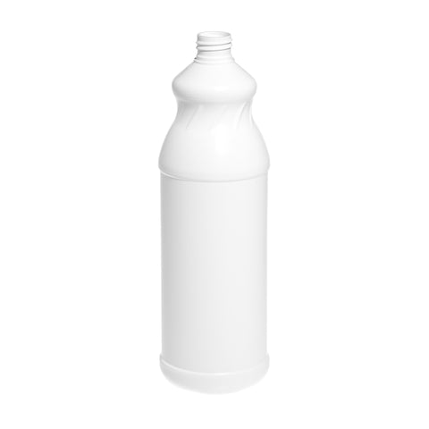 1Ltr White Waisted Bottle (28/410 neck)