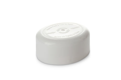32mm White Oval CRC Cap
