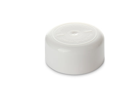 32mm Round White CRC Cap