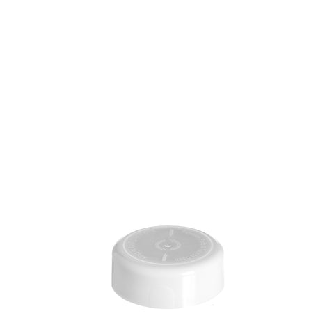 45mm Round White CRC Cap