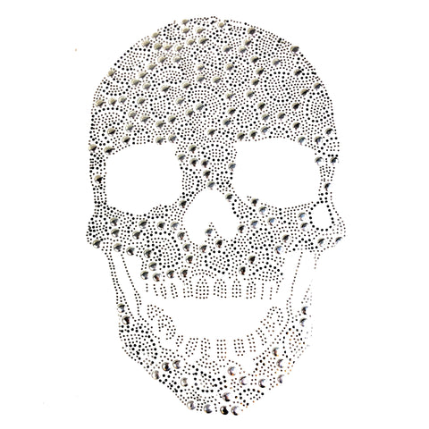 Strijk Hot Fix Rhinestone Strass Crystal Doodskop Skull Applicatie