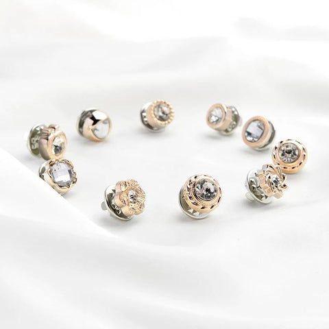 New Style Women Fashion Decoratie Diamant Pin Broche Set