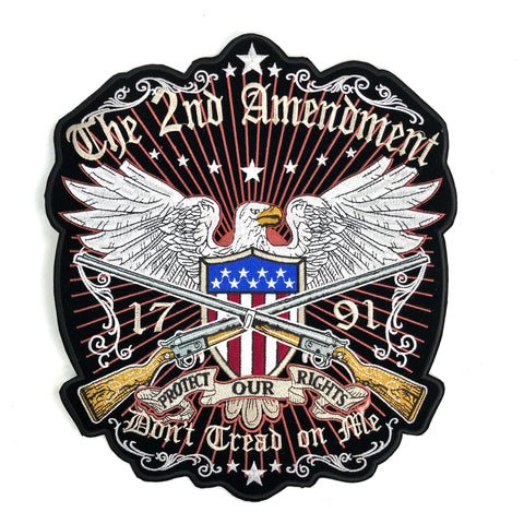 The Second Amendment Met USA Schild Adelaar En Twee Geweren Strijk XXL Patch