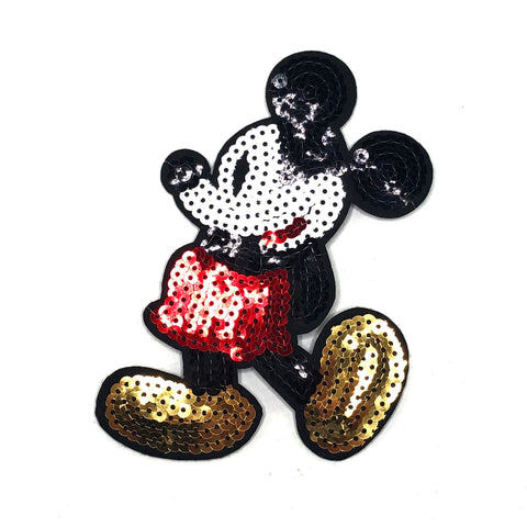 Paillette Mickey Strijk Patch