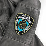 Police Department United States Of America Tekst Embleem Patch
