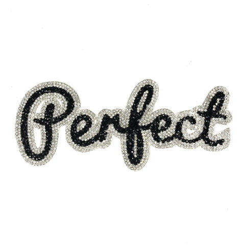Perfect Tekst Van  Strass En Crystal Steentjes XL Patch
