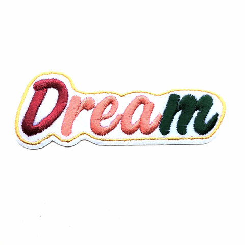 Dream tekst patch in pastel kleuren
