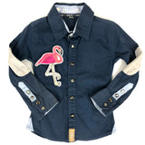 Tropische Roze Flamingo XL Patch