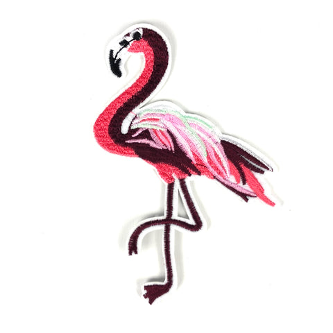Donker Roze Flamingo XL Patch