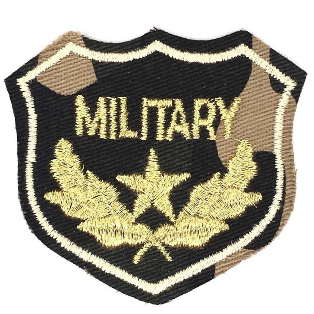Legergroene Camouflage Military Tekst Embleem Strijk Patch