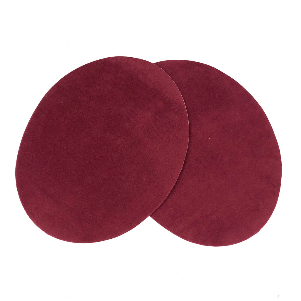 Elleboog Knie Strijk Patches Bordeaux rood