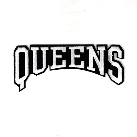 "Zwart Witte ""Queens' Tekst XL Patch"