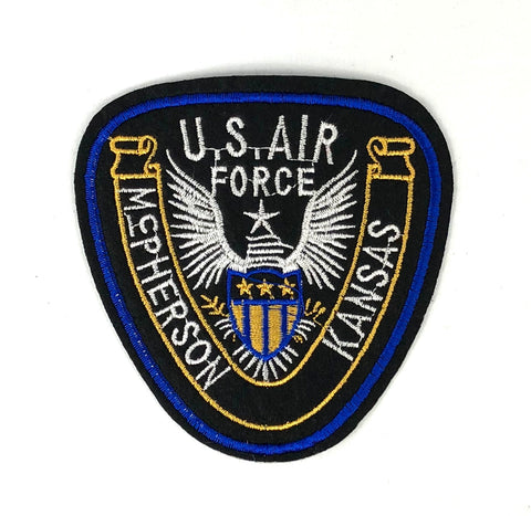 Embleem US Airforce Kansas Tekst Patch
