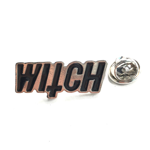 Witch Tekst Emaille Pin