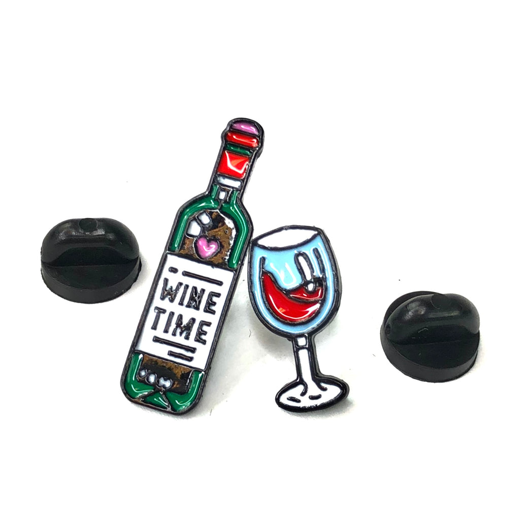 Wine Time Pin Set