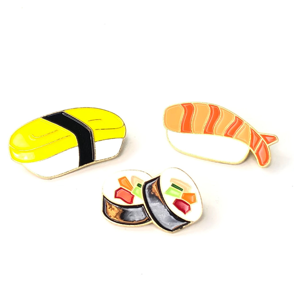 Let's Eat Sushi Pin / Speld Set