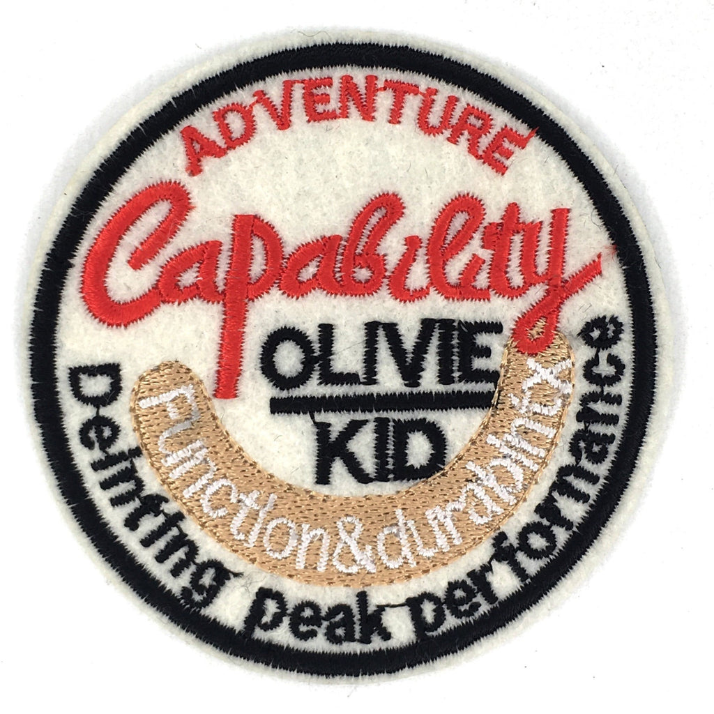 Rond adventure capability  olive kid tekst embleem patch