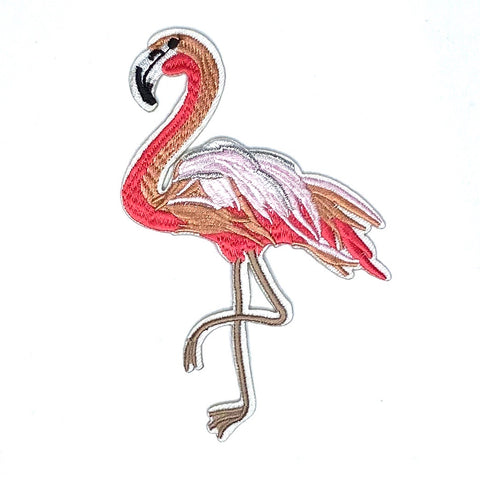 Flamingo Met Roze Tinten L Strijk Patch