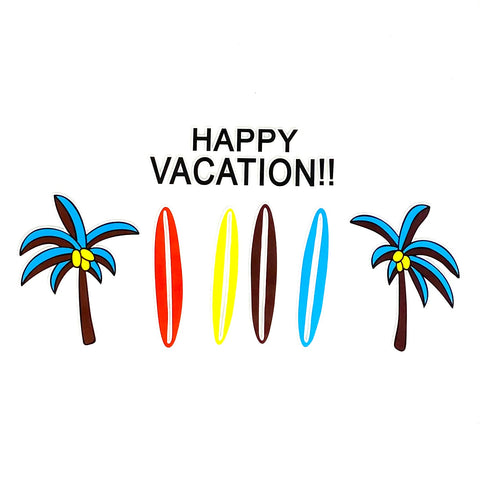 Happy Vacation Tekst Strijk Applicatie