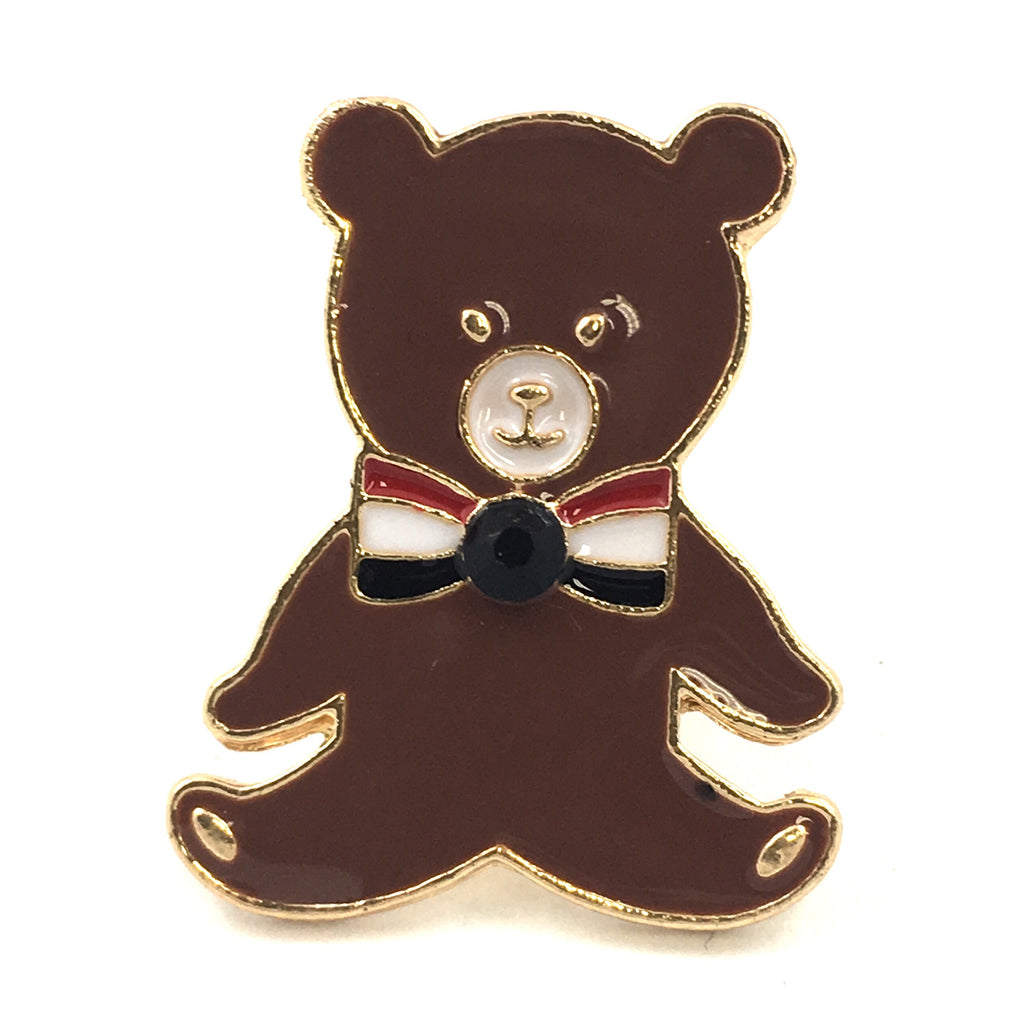 Grote Bruine Teddy Beer Emaille Pin