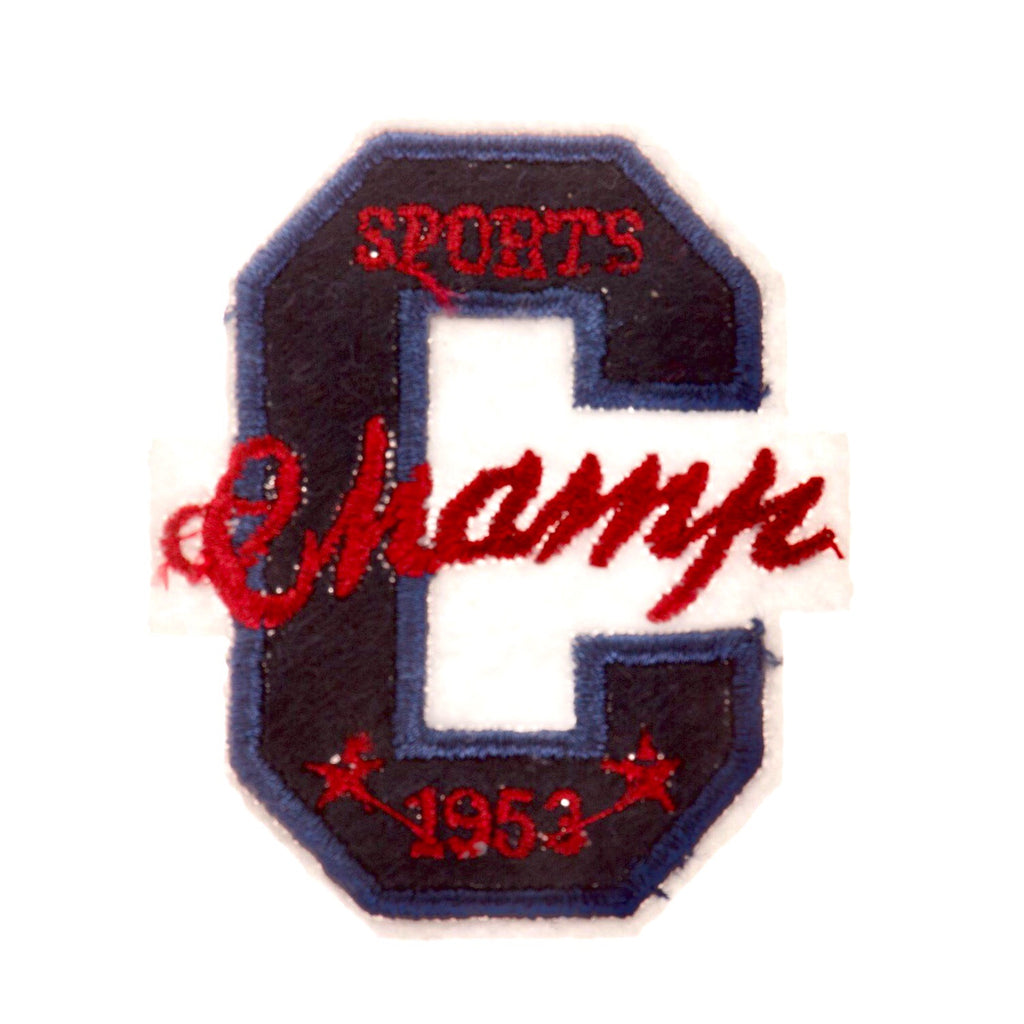College Style Strijk Patch Met Tekst Champs Sports 1953