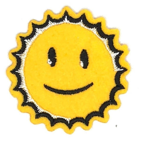 Gele Smiley Zon Strijk Patch