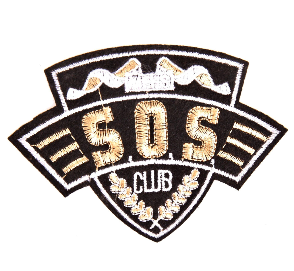 Sos Club Tekst Strijk Patch