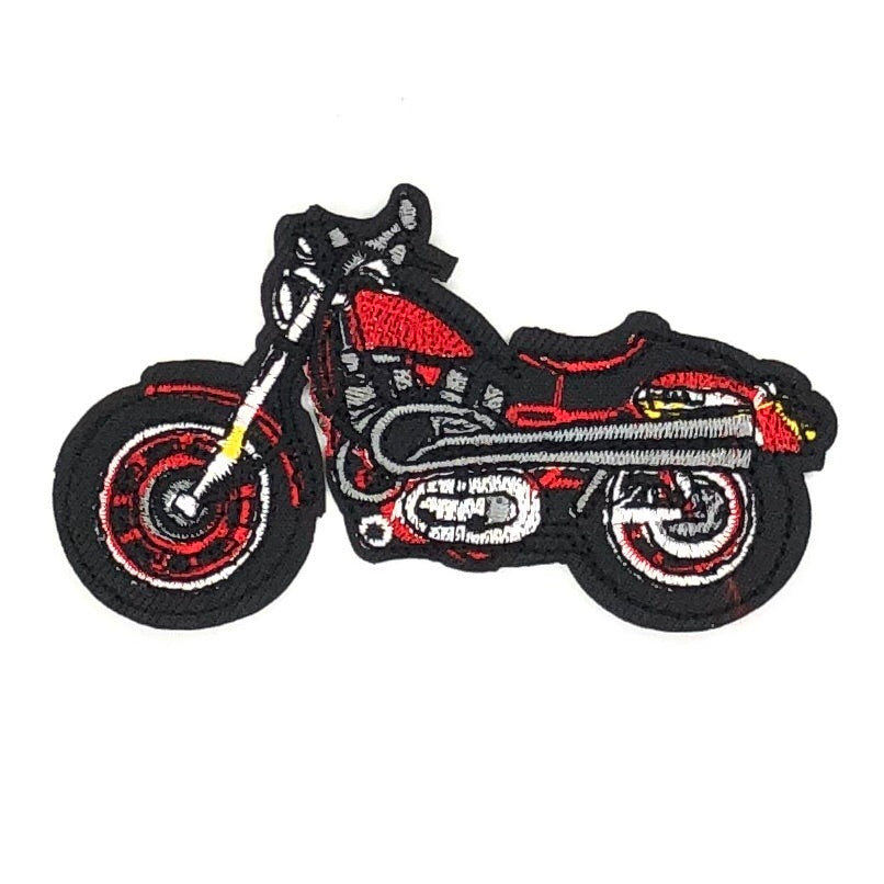 Rode Motor Biker Strijk Patch