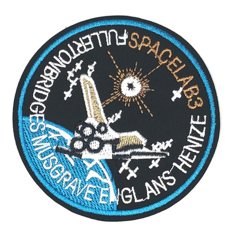 Spacelab 3 Embleem Met Space Shuttle Strijk Patch
