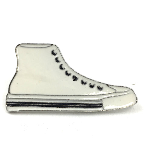 Witte Sneaker Gym Schoen emaille Pin