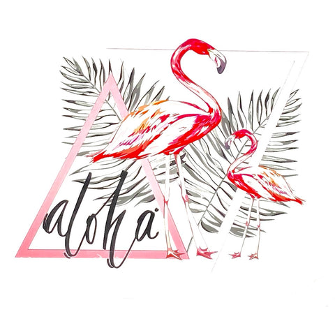 Aloha Flamingo Strijk Applicatie
