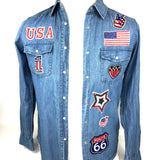 Nummer 1 Patch Met De Stars And Stripes En Tekst USA