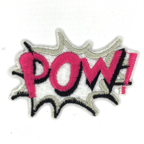 Comic stijl Pow Tekst Patch