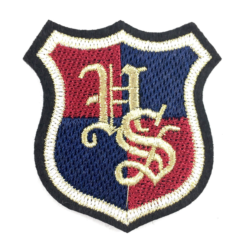 High School Embleem Met Letters HS Patch