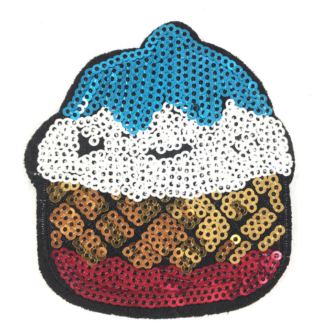 Grote Paillette Cupcake Patch