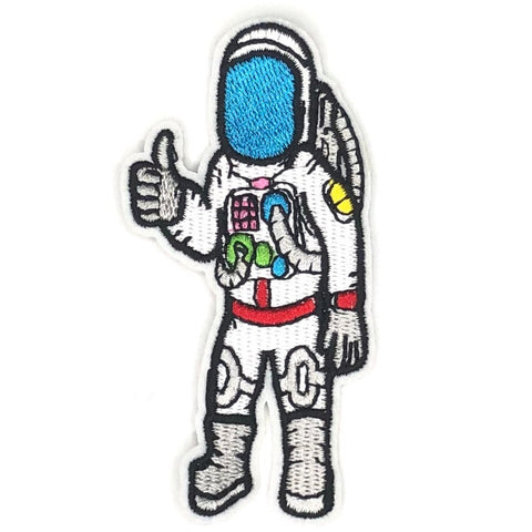 Astronaut Met Thumbs Up Strijk Patch