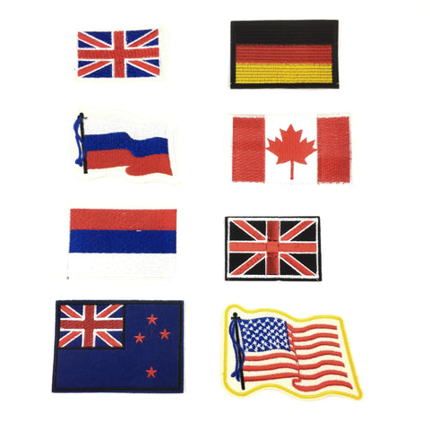 Internationale Vlaggen Patch Set
