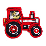 Rode Tractor Strijk Embleem Patch