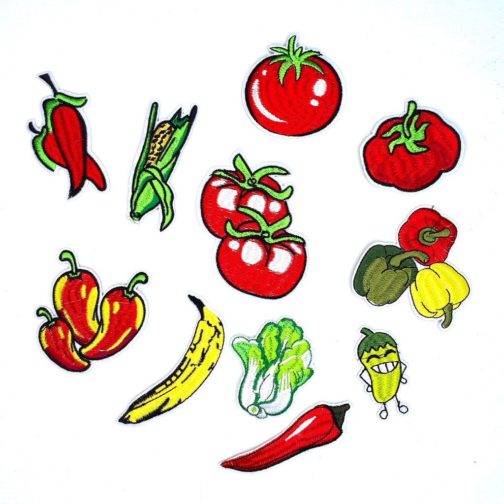 Healthy Vegetables And Fruit Patch Set