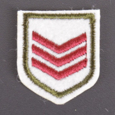 Kleine Militairy Stripes Embleem Strijk Patch