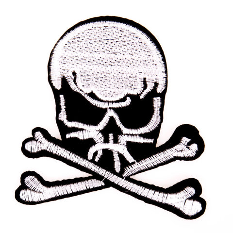Doodskop Skull Met Botten Strijk Patch