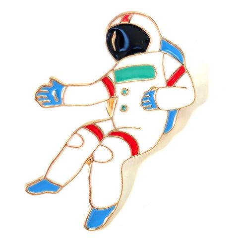 Astronaut In Space Emaille Pin