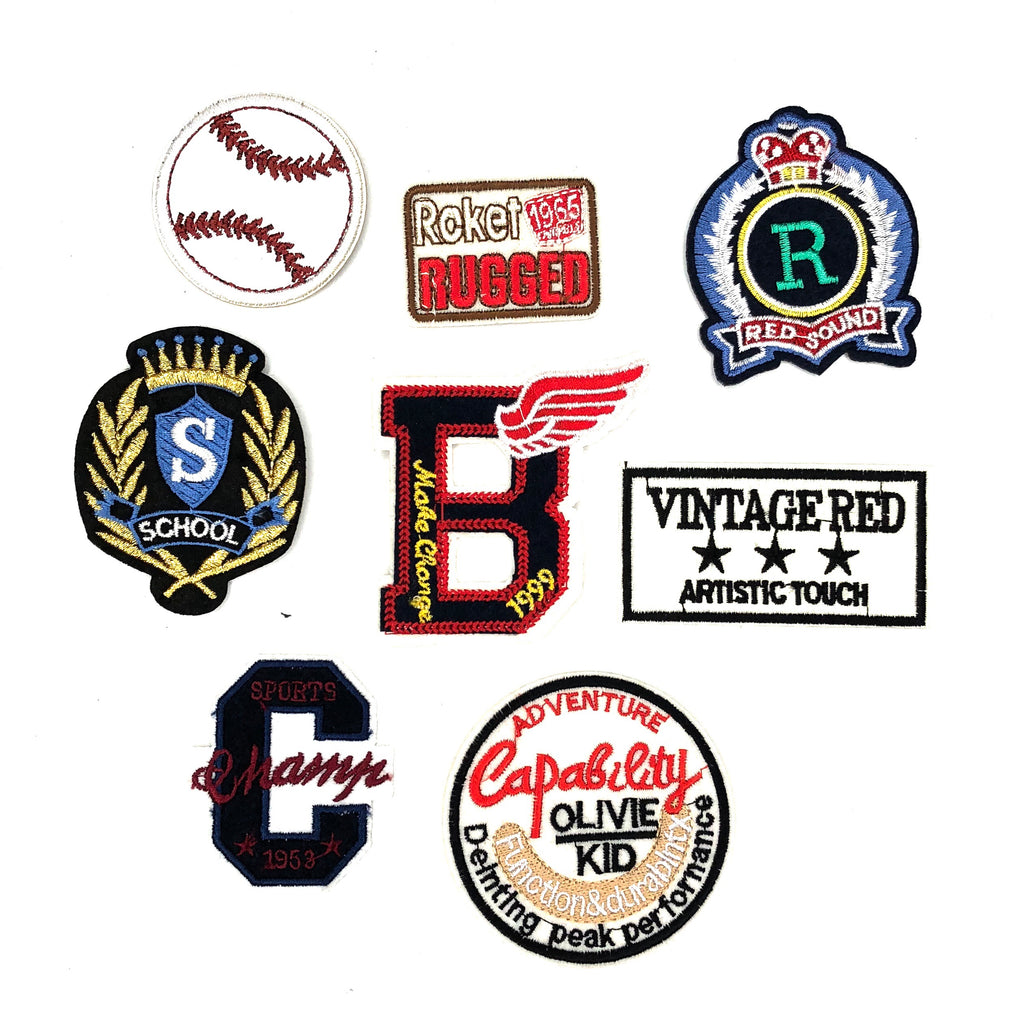 Vintage Back To School En College Patch Set