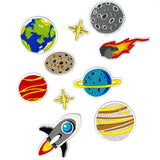 Planets Of The Universe Ruimtevaart Strijk Embleem Patch Set