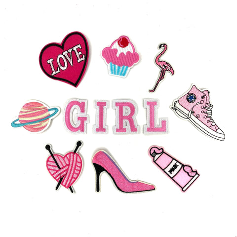 Pink Girls Only Patch Set