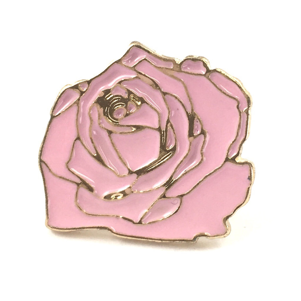Roze Roos Pin