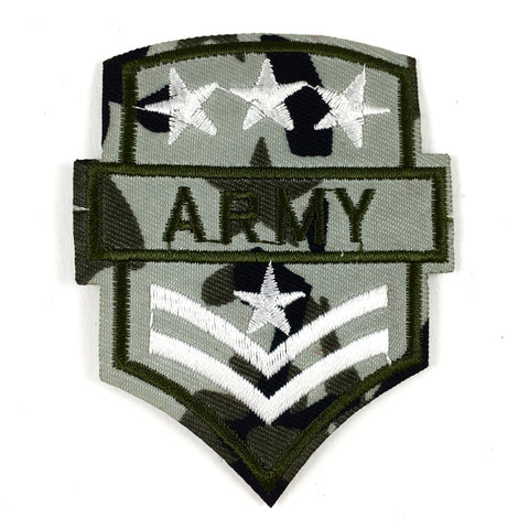 Camouflage Army Patch Met Witte Sterren
