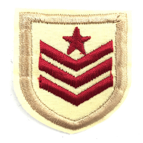 Military Sergeant Rode Strepen Strijk Patch