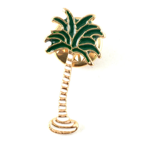 Palmboom Met Witte Stam Emaille Pin
