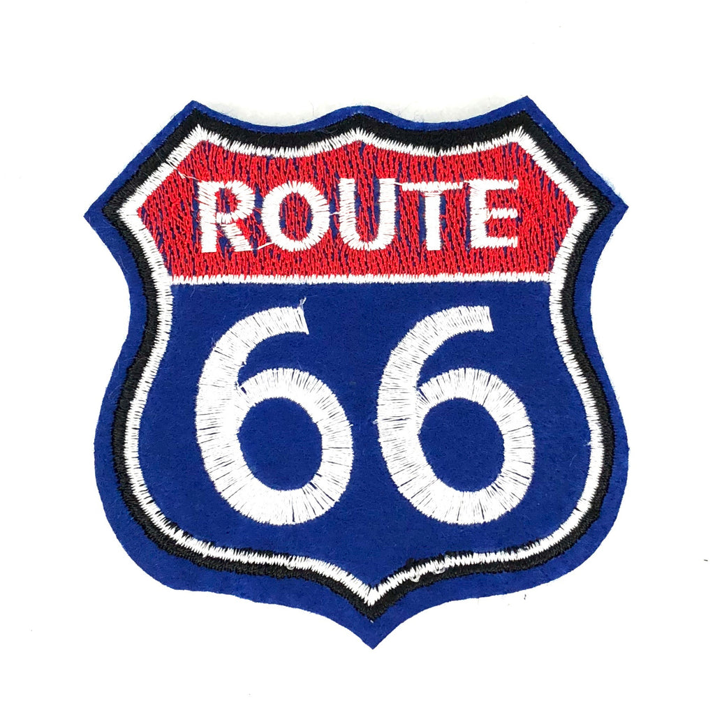 Rood Blauwe USA Route 66 Strijk Patch